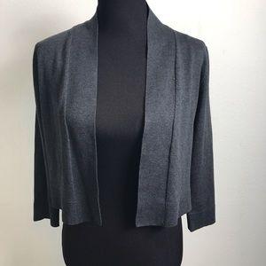 Calvin Klein silk blend cropped cardigan L